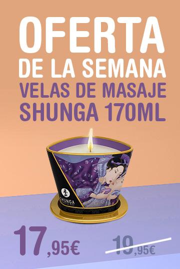 Oferta semana Velas de masaje Shunga
